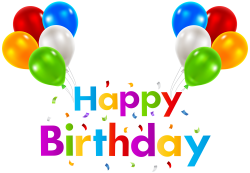 Happy Birthday with Balloons Transparent Clip Art | Gallery ...