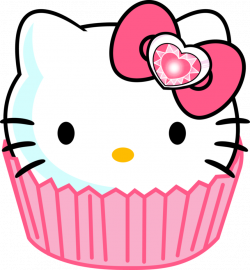 Hello Kitty Border Clip Art | Hello Kitty Cupcake - Sarry Eyed Style ...