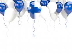 Balloon frame with flag. Illustration of flag of Finland
