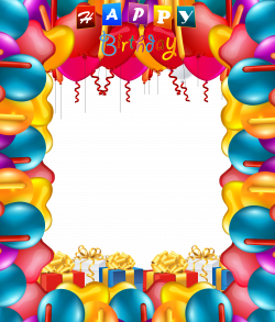 Happy Birthday Balloons Transparent PNG Frame | Places to visit ...