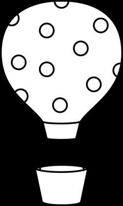 Black and White Polka Dot Hot Air Balloon | dr.seuss crafts ...