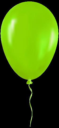 Green Balloon PNG Clip Art - Best WEB Clipart