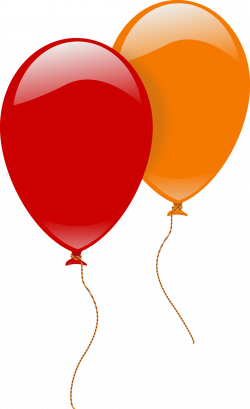Free Stock Photo: Illustration of a red and an orange balloon ...