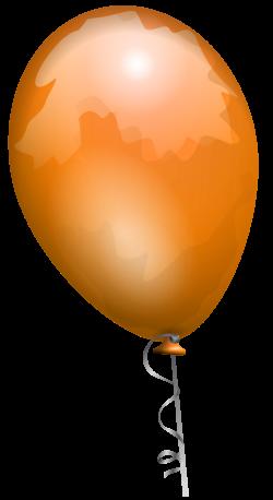Clipart - Orange balloon