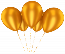 Gold Balloons Transparent Clip Art Picture   Gallery Yopriceville ...