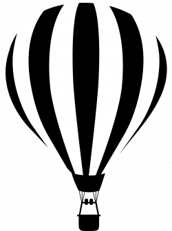 black and white silhouette images   Black and White Striped Hot Air ...