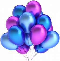 Transparent Blue and Pink Balloons Clipart   BIRTHDAY   Pinterest ...