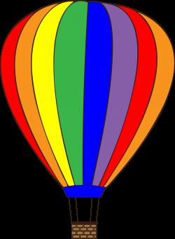Clipart - Colorful Hot Air Balloon   svg files   Pinterest   Hot air ...
