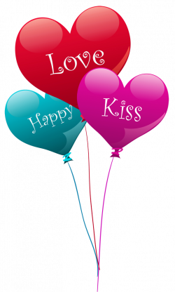 Transparent Heart Kiss Love Happy Balloons PNG Clipart | love ...