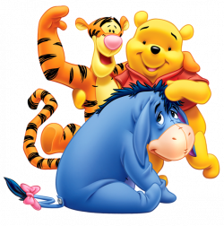 Winnie the Pooh Eeyore and Tiger Transparent PNG Clip Art Image ...