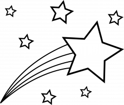 Shooting Star Outline to Color In | Paper Art | Pinterest | Shooting ...