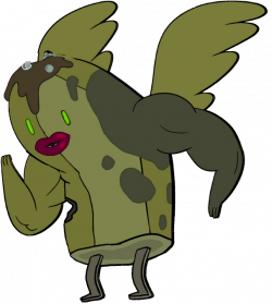 Image - Zombie Banana Guard with wings, lips, and muscles.png ...