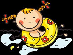 Cartoon Child Summer Clip art - Cartoon cute baby swimming 2679*2012 ...