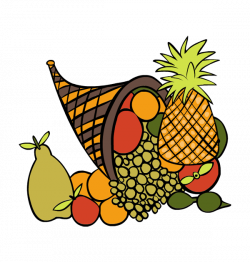 Orange Thanksgiving Baskets Clipart