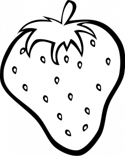 coloring page of big strawberry printables for preschoolers ...