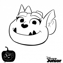 Pumpkin Stencil Vampirina Coloring Page | cora bday party | Pinterest