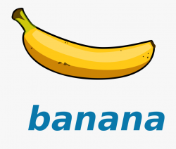 Banana Clipart - File - Wikivoc - - Banana Picture With Name ...