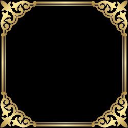 Fancy That Boutique LOUENHIDE Clip art - Gold Border Frame PNG Clip ...