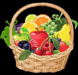 Fruit Basket PNG Vector Clipart | Еда, продукты, фрукты, овощи ...