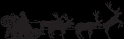 Santa Claus Reindeer Sled Clip art - Santa Claus on Sled Silhouette ...