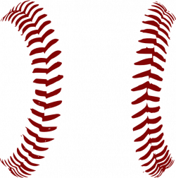 Red Softball Laces Only Clip Art at Clker.com vector clip art online ...