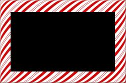 Candy Cane Christmas Borders and Frames | digital frames & borders ...