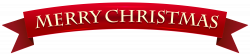 Banner Merry Christmas Transparent Clip Art Image | christmas with ...