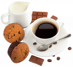 Coffee with Milk Muffins and Chocolate PNG Clipart Picture ...