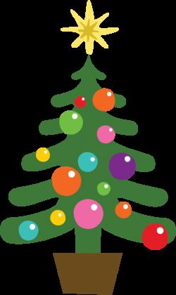 December holidays tree clip art image png - Clipartix