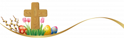 Easter Deco with Eggs and Cross PNG Clipart Picture | Gallery ...