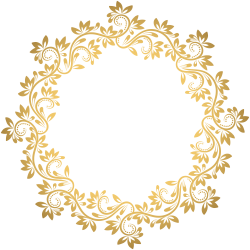 Gold Deco Round Border PNG Transparent Clip Art | Gallery ...