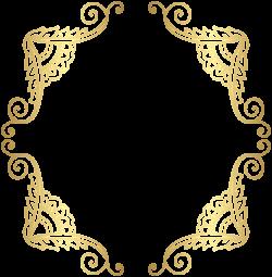 Golden Border Frame PNG Clip Art Image | PNG | Pinterest | Art ...