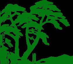 rain forest shilouettes | Green Trees Silhouette clip art - vector ...