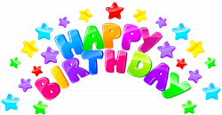 Happy Birthday Decor with Stars PNG Clip Art Image | Gallery ...