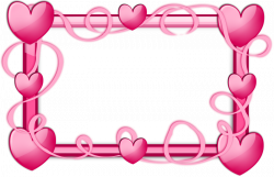 Pink Hearts Border | Free Stock Photo | A blank frame border with ...