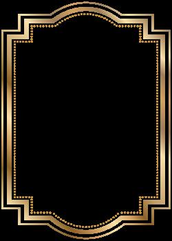Border Frame Gold Transparent Clip Art   Gallery Yopriceville ...
