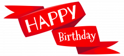 Red Happy Birthday Banner PNG Image | Gallery Yopriceville - High ...