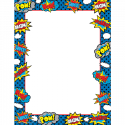 28+ Collection of Superhero Clipart Border | High quality, free ...