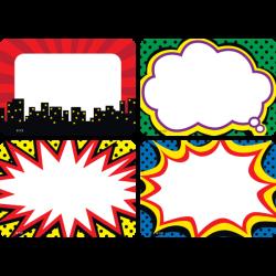 Superhero Name Tags/Labels - Multi-Pack | Pinterest | Superhero ...