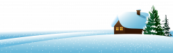 Winter House and Тrees Ground PNG Clipart Image | Gallery ...