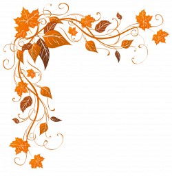 Transparent Autumn Decoration PNG Clipart Image | Уголки | Pinterest ...