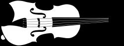 Black & White clipart violin - Pencil and in color black & white ...