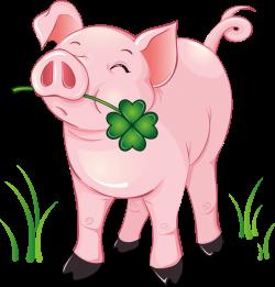 GlБcksschwein mit GlБcksklee.png | Pinterest | Leaf clover, Leaves ...