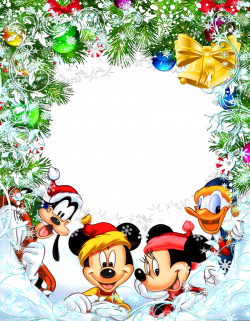 Transparent Christmas Star Frame with Mickey Mouse and Friends ...