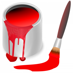 Free Clipart: Color bucket red | KNK: Allerlei | Pinterest | School