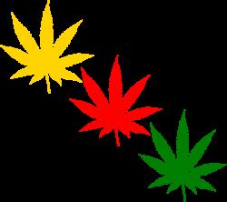 Orange marijuana leaf clipart kid - ClipartBarn