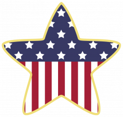 American Star Decoration PNG Clipart | July 4th Clip Art | Pinterest ...