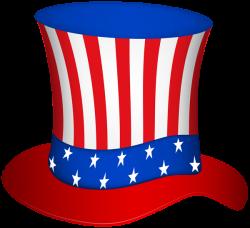 Uncle Sam Hat PNG Transparent Clip Art Image | Patriotic clip ...