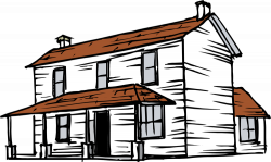 Countryside clipart farmhouse - Pencil and in color countryside ...