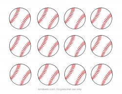 free printable baseball clip art images | Inch Circle Punch or ...